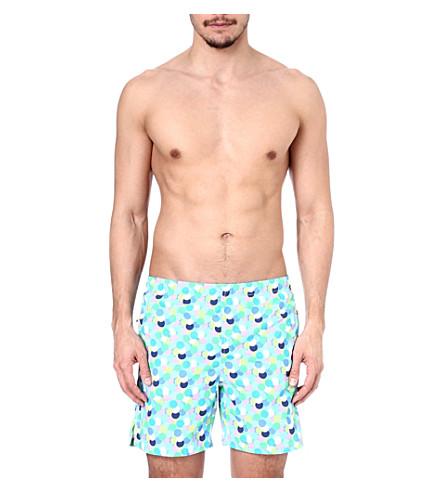 RICHARD JAMES Multi-spot swim shorts (Turq