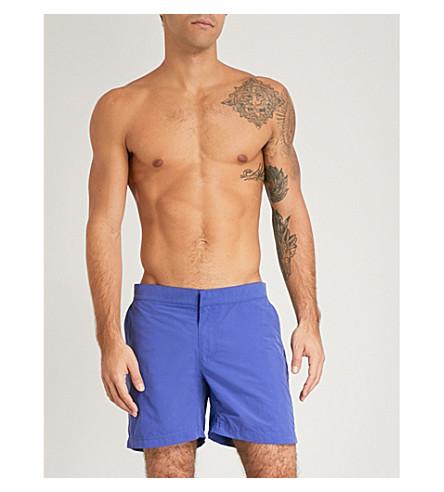 RICHARD JAMES Contrast-pocket swim shorts (Purple