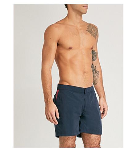 RICHARD JAMES Contrast-pocket swim shorts (Navy