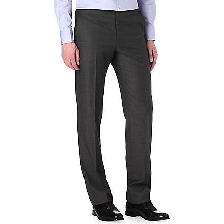 RICHARD JAMES Sharkskin wool trousers (Charcoal