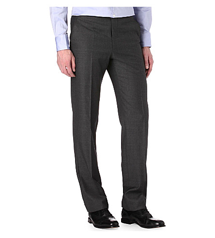 RICHARD JAMES Sharkskin wool trousers (Charcoal