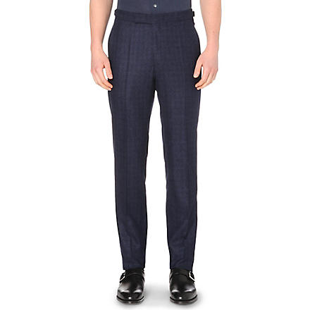 RICHARD JAMES Fine-twill trousers (Navy