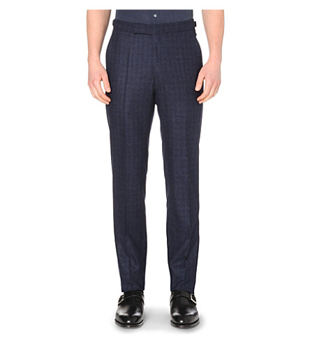 RICHARD JAMES Straight-leg wool trousers (Navy