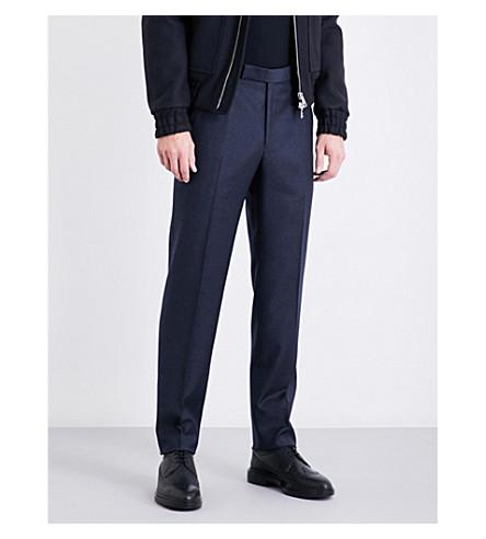 RICHARD JAMES Regular-fit straight wool trousers (Navy