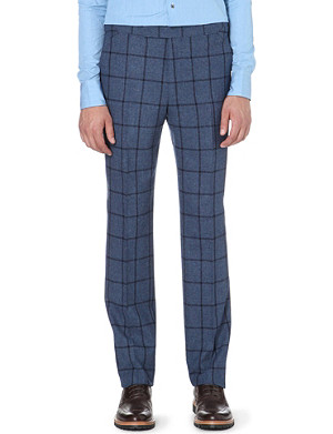 RICHARD JAMES Windowpane slim-fit trousers