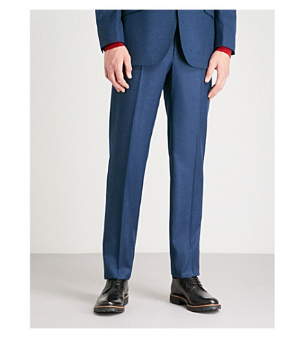 RICHARD JAMES Wool trousers (Ocean