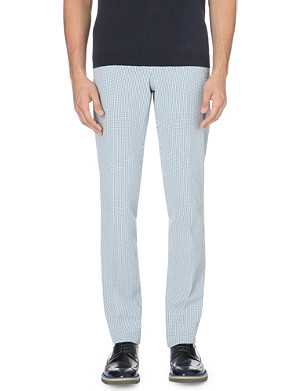 RICHARD JAMES Gingham cotton trousers