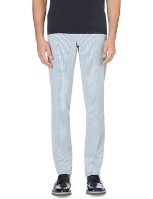 RICHARD JAMES Gingham cotton trousers