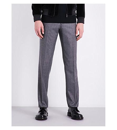 RICHARD JAMES Regular-fit wool trousers (Light+grey