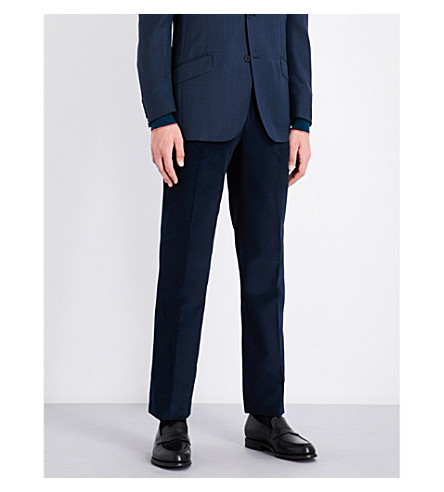RICHARD JAMES Needle straight corduroy trousers (Deep+blue