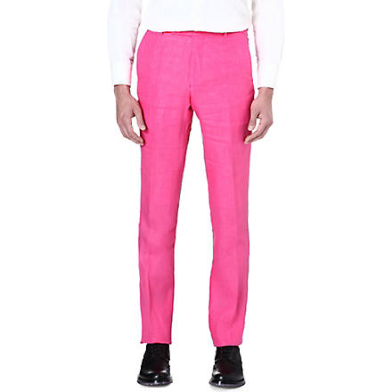 RICHARD JAMES Slim-fit cotton trousers (Brt+pink