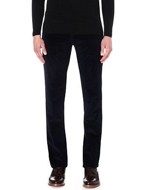 RICHARD JAMES Slim-fit cotton trousers