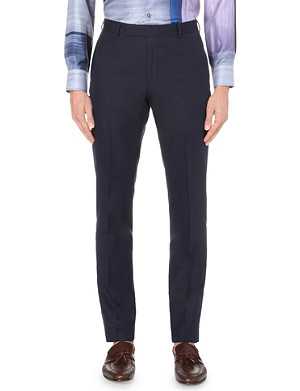 RICHARD JAMES Slim-fit wool and silk trousers