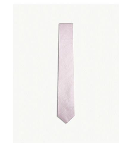 RICHARD JAMES Grenadine silk tie (Pearl