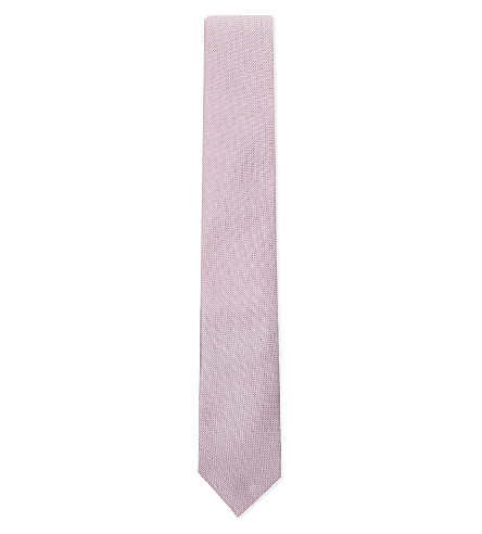 RICHARD JAMES Grenadine silk tie (Pink