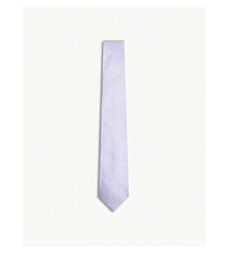 RICHARD JAMES Grenadine silk tie (Lilac