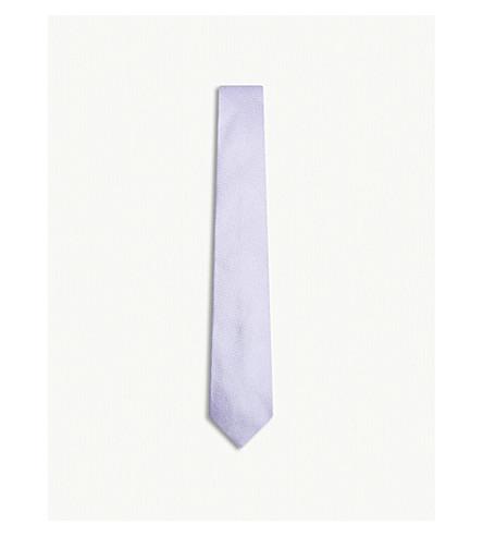 RICHARD JAMES Grenadine silk tie (Lilac