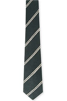 RICHARD JAMES Slub silk stripe tie