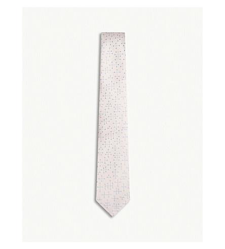 RICHARD JAMES Molecule-print silk tie (Pink