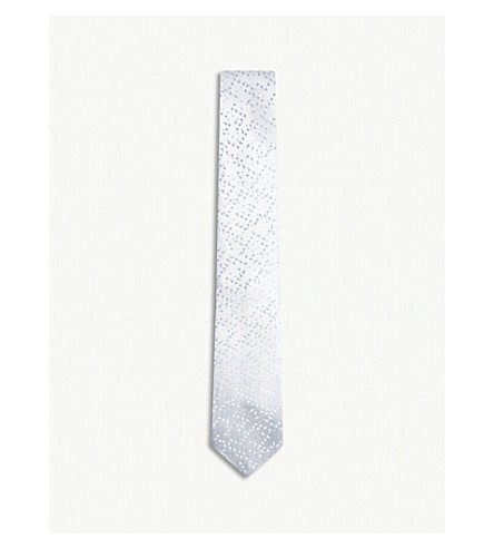 RICHARD JAMES Pixels silk tie (Sky