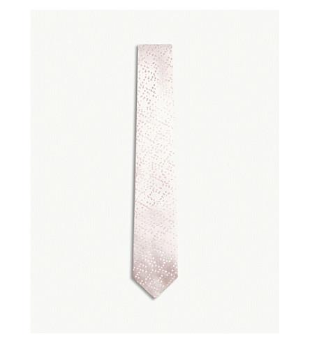 RICHARD JAMES Pixels silk tie (Pink