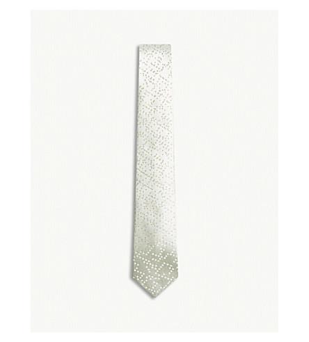 RICHARD JAMES Pixels silk tie (Aqua