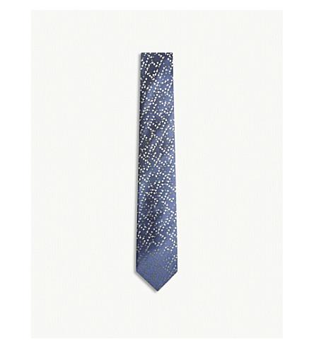 RICHARD JAMES Pixels silk tie (Green