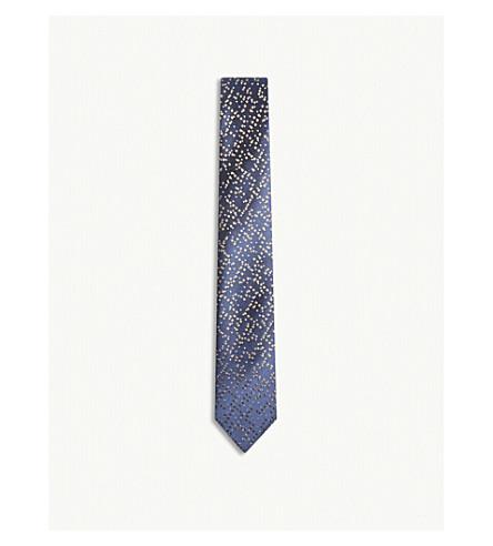 RICHARD JAMES Pixels silk tie (Tan
