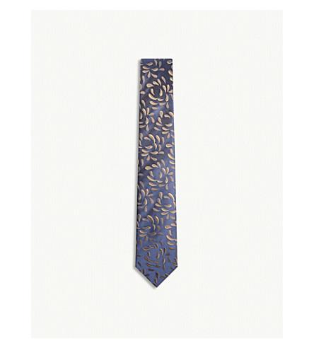 RICHARD JAMES Droplets print silk tie (Bronze