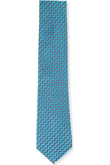 RICHARD JAMES Silk zig zag tie