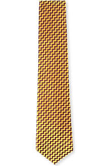 RICHARD JAMES Silk zig-zag tie