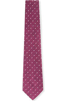 RICHARD JAMES Grenadine weave spot silk tie