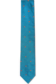 RICHARD JAMES Little butterflies silk tie