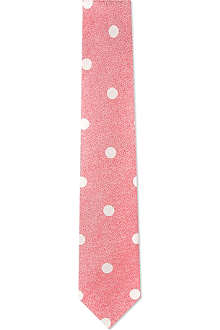 RICHARD JAMES Sable spots silk tie