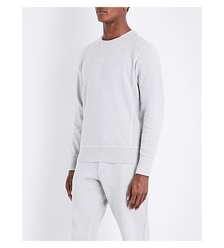 RICHARD JAMES Marl-pattern cotton-jersey sweatshirt (Light+grey