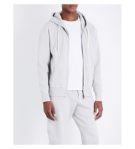 RICHARD JAMES Marled cotton-jersey hoody (Light+grey