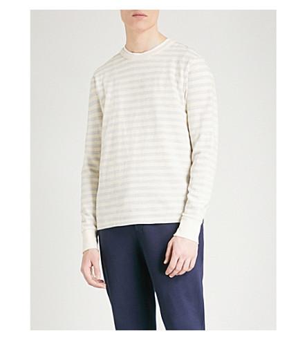 RICHARD JAMES Striped cotton jumper (Light+blue