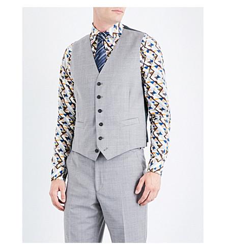 RICHARD JAMES Twill-patterned wool waistcoat (Light+grey