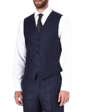 RICHARD JAMES Glen check waistcoat