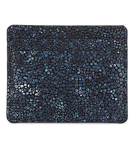 RICHARD JAMES Textured leather card holder (Blue