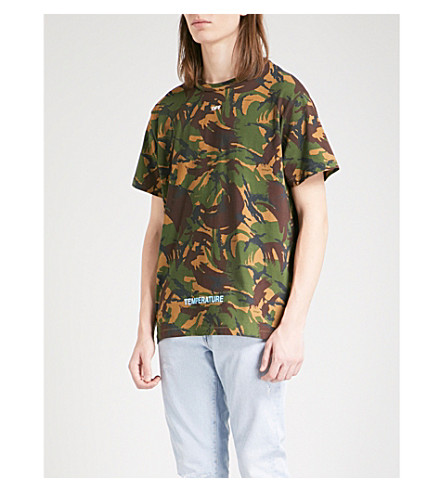 OFF-WHITE C/O VIRGIL ABLOH Camouflage-print cotton-blend T-shirt (Camou