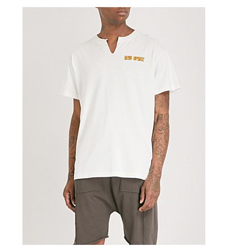 OFF-WHITE C/O VIRGIL ABLOH Printed cotton-jersey T-shirt (Wht+multi