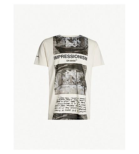 OFF-WHITE C/O VIRGIL ABLOH Newspaper-print cotton-jersey T-shirt (Off white