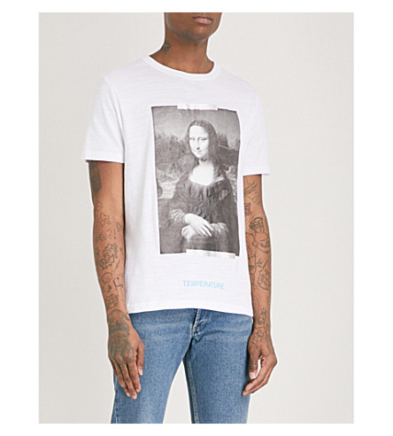 OFF-WHITE C/O VIRGIL ABLOH Slim-fit printed cotton-jersey T-shirt (White+black