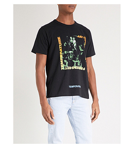 OFF-WHITE C/O VIRGIL ABLOH Caravaggio cotton-jersey T-shirt (Black+multi
