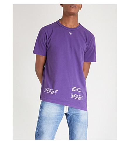 OFF-WHITE C/O VIRGIL ABLOH Birmingham cotton-jersey T-shirt (Violet