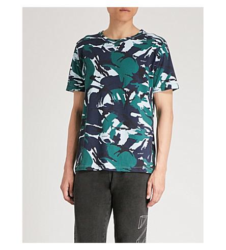 OFF-WHITE C/O VIRGIL ABLOH Camouflage-print cotton-jersey T-shirt Camo Recommend Cheap Cheap Sale Big Sale Sale Online Store Original Sale Online 5le9DXaAKz