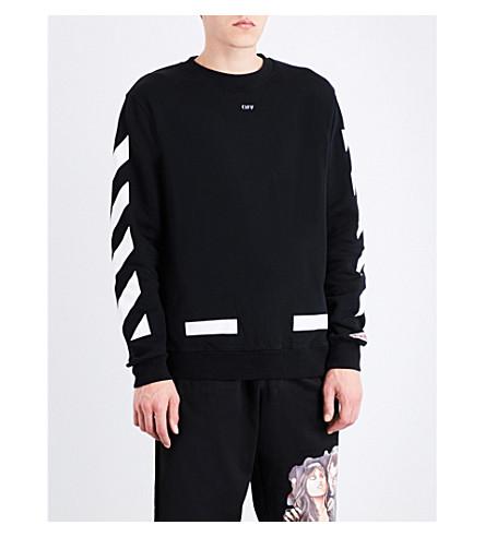 OFF-WHITE C/O VIRGIL ABLOH Diagonal stripes cotton sweatshirt (Black