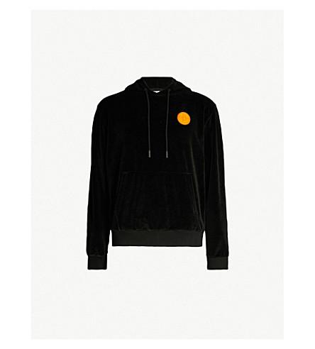 OFF-WHITE C/O VIRGIL ABLOH Logo-patch velour hoody (Black
