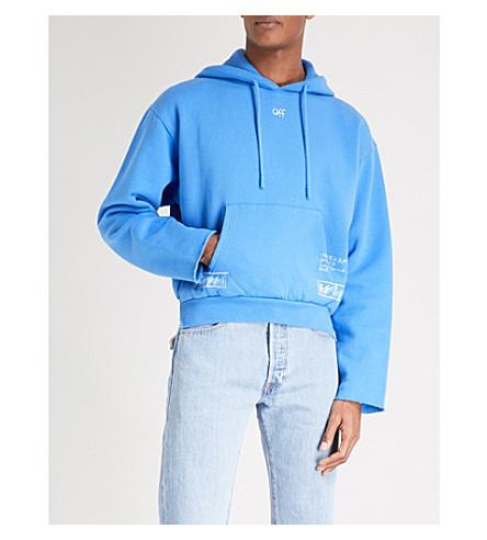 OFF-WHITE C/O VIRGIL ABLOH London cotton-jersey hoody (Blue